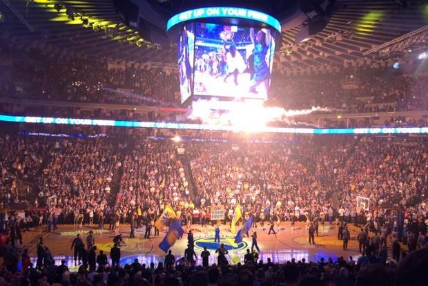 エンターテインメントの街・NBA...