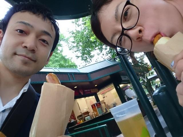 ③日目コペン・チボリ公園ホットドッグ